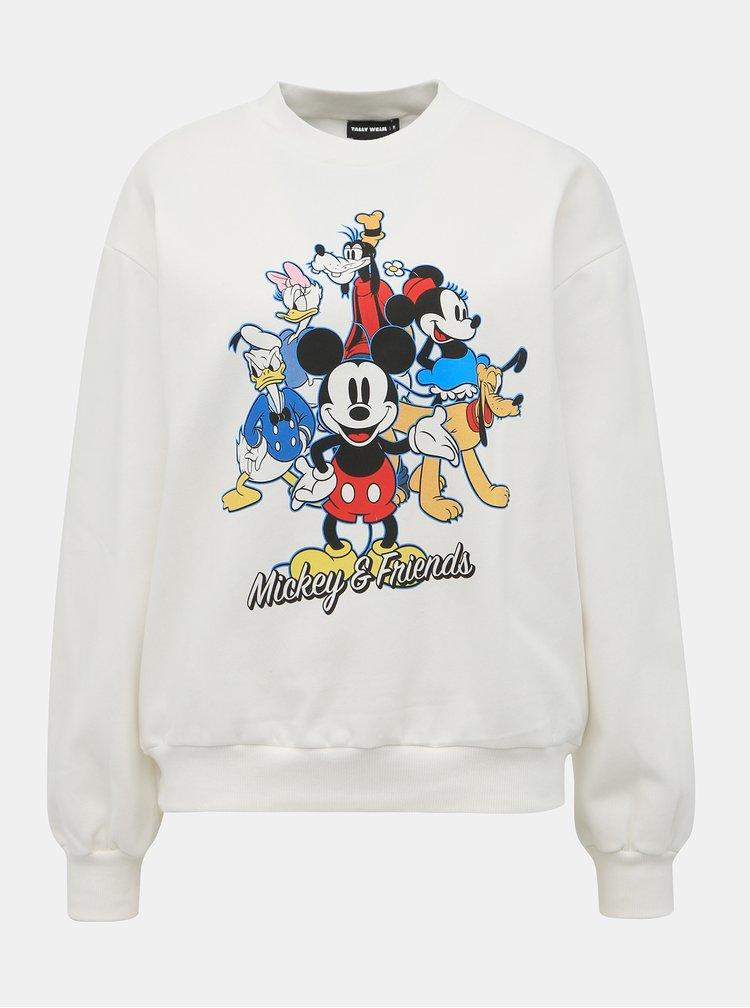 Biela mikina s potlačou TALLY WEiJL Disney Mickey
