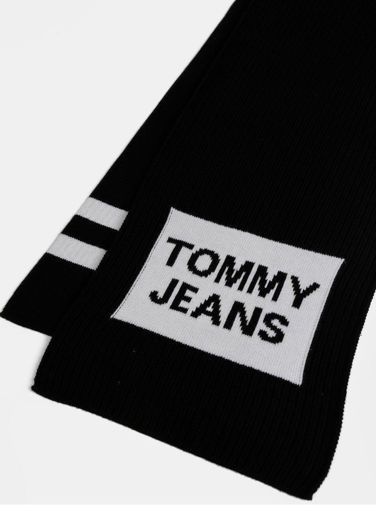 Černá šála Tommy Hilfiger