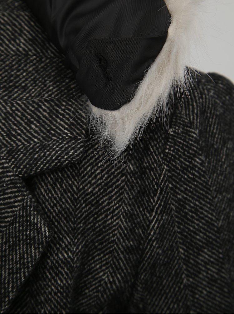 Tmavě šedý kabát s příměsí vlny TALLY WEiJL Fati