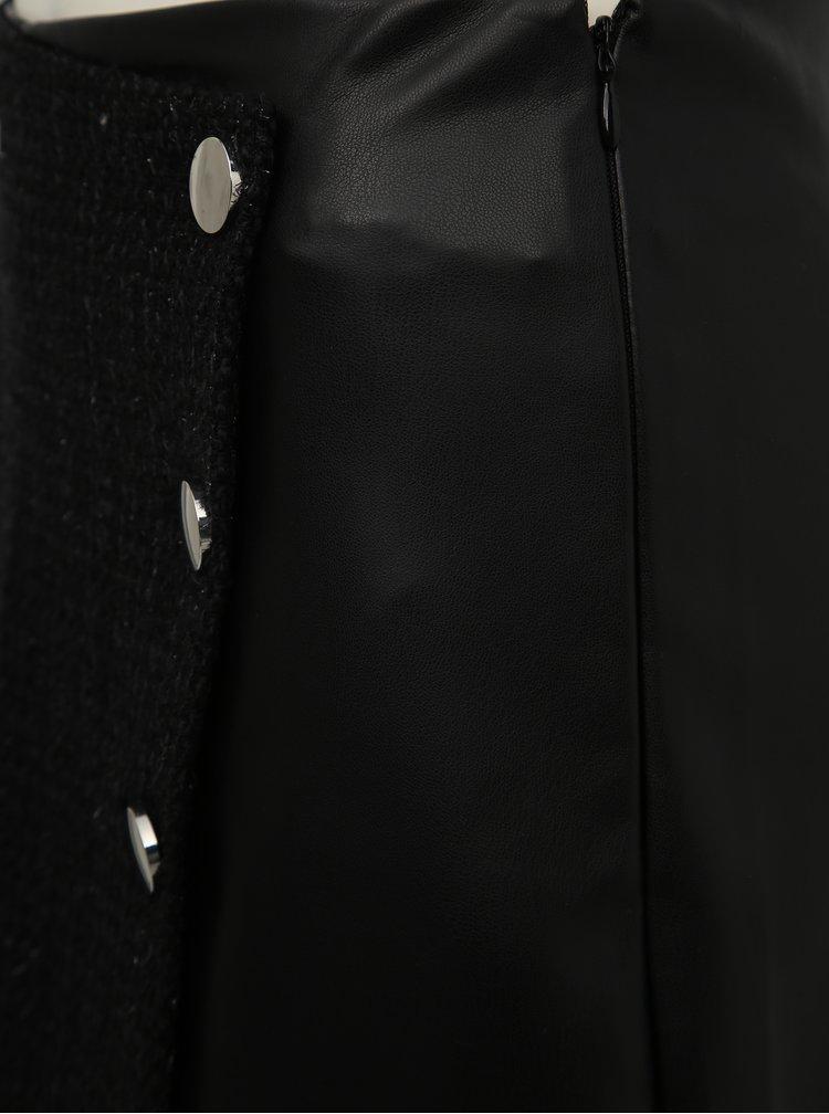 Čierne koženkové kraťasy TALLY WEiJL Fati