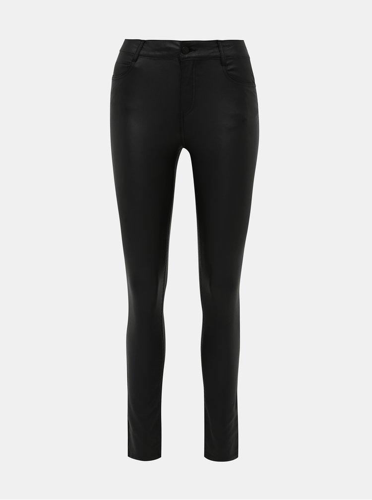 Černé super slim fit kalhoty s povrchovou úpravou VILA Commit