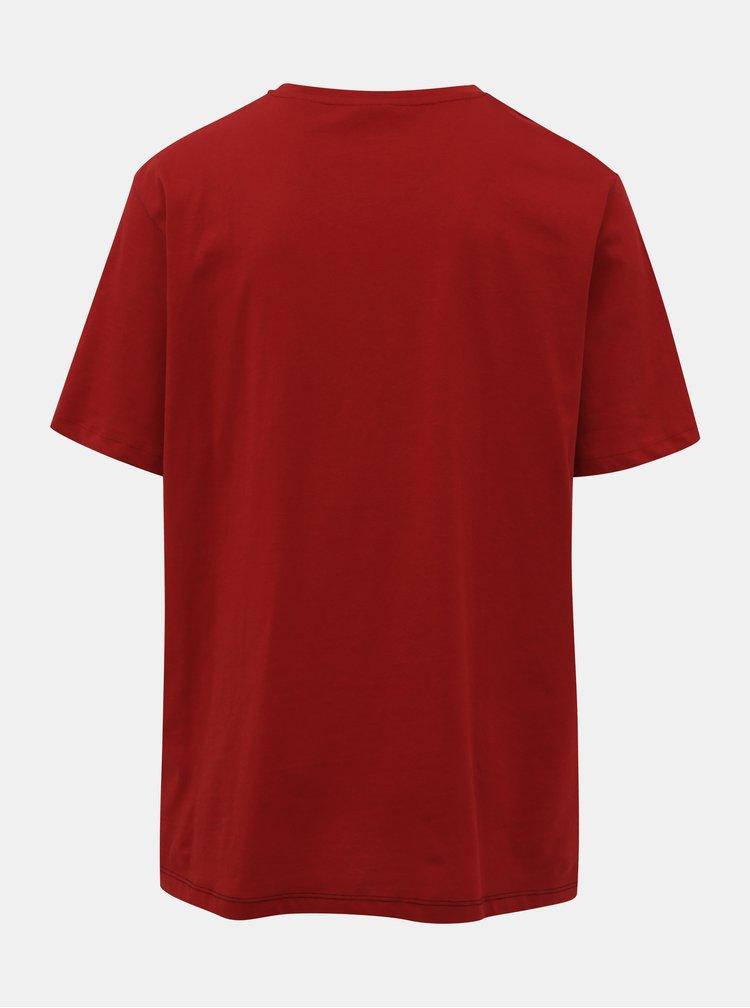 Čierno-červené tričko Jack & Jones Miller