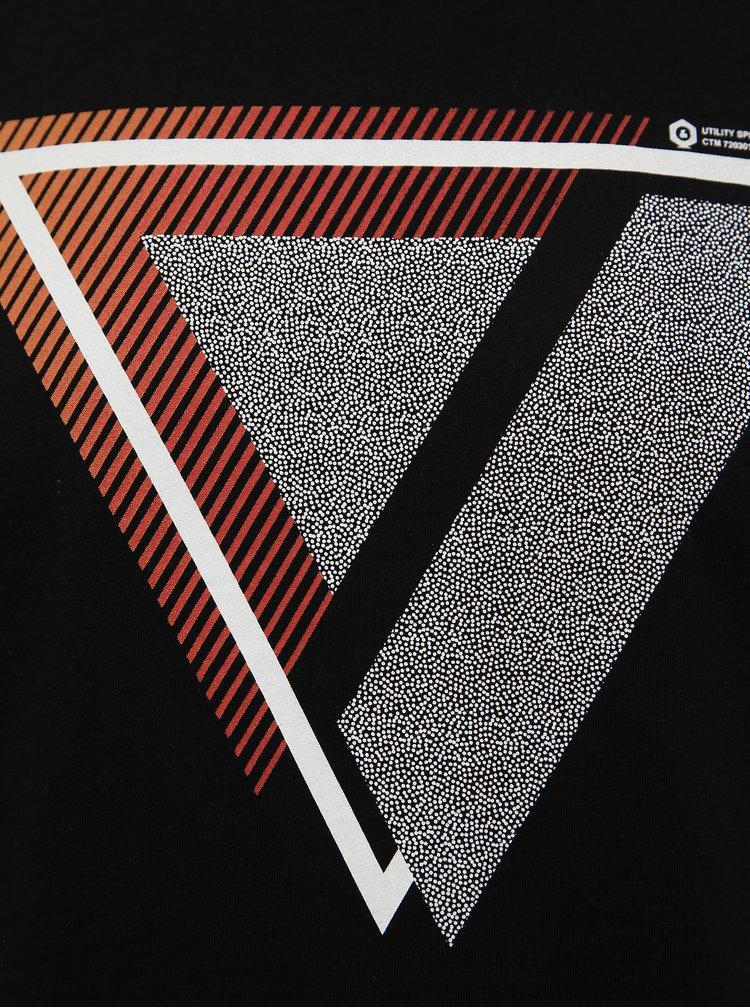 Černé tričko Jack & Jones Booster