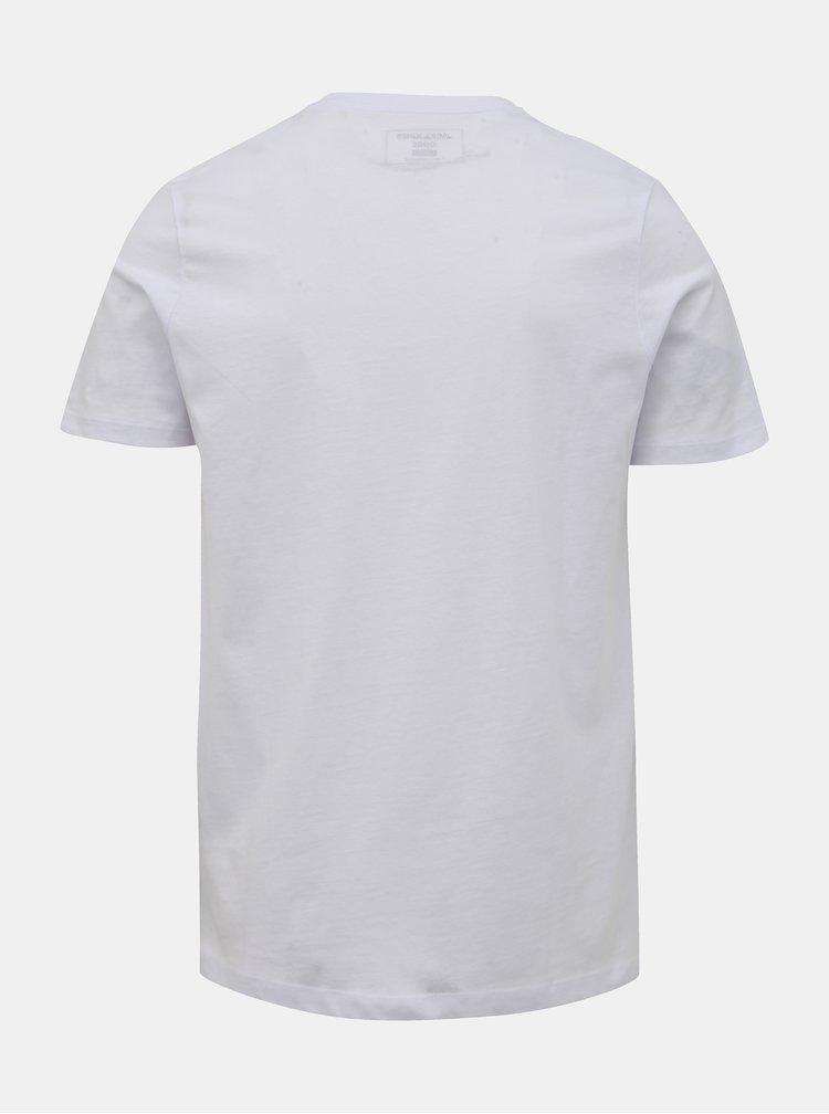 Bílé tričko Jack & Jones Booster