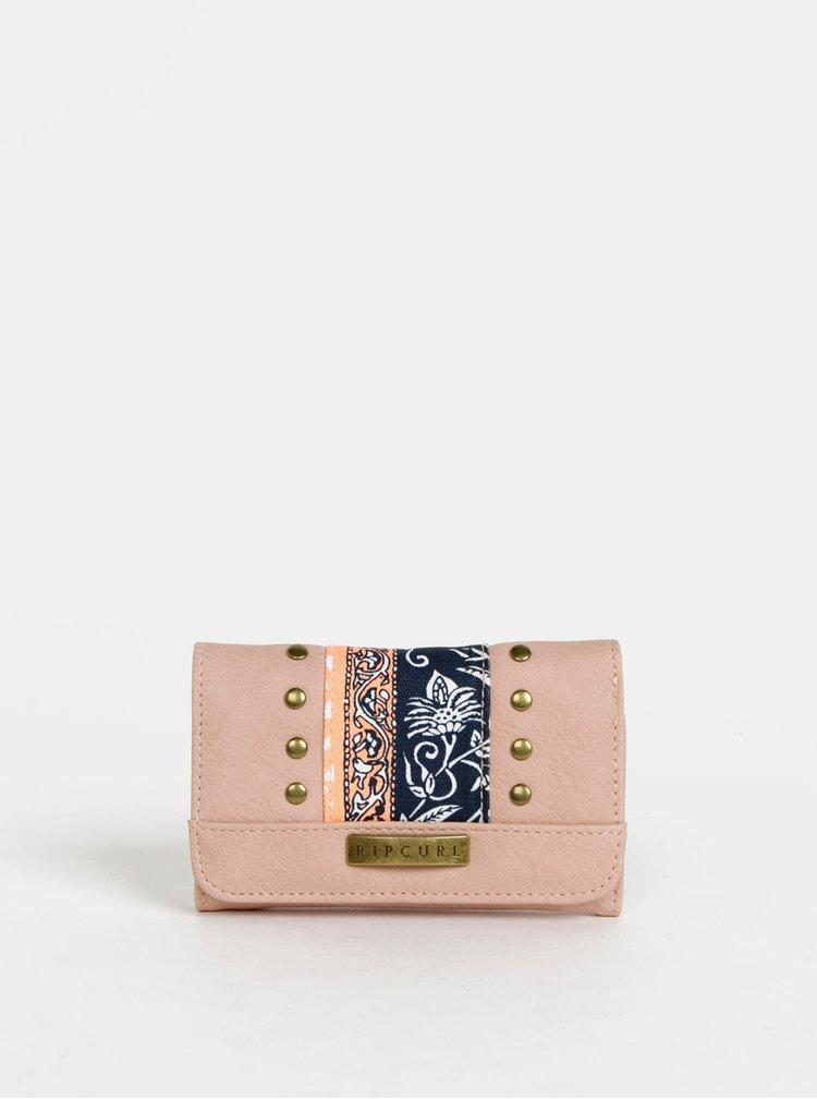 Rúžová dámska vzorovaná peňaženka Rip Curl Wild Flower