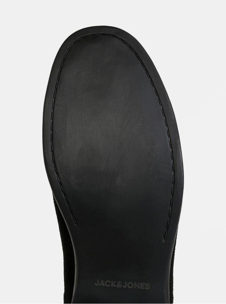 Černé chelsea boty Jack & Jones Mitchell