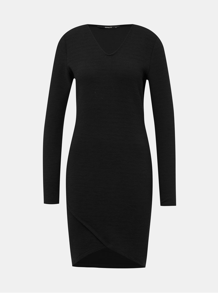 Čierne púzdrové šaty ONLY Cybil