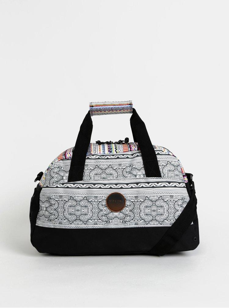 Bílá dámská vzorovaná sportovní taška Rip Curl Gym Bag