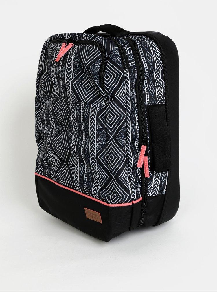 Černý vzorovaný kufr Rip Curl Black Sand 35 l