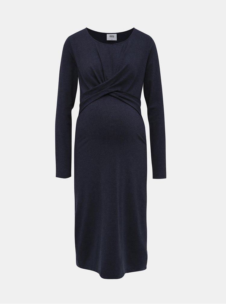 Tmavě modré těhotenské šaty Mama.licious Selena