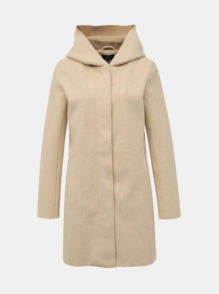 Krémový kabát ONLY Siri
