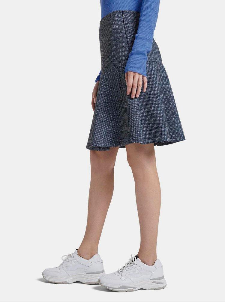 Modrá vzorovaná sukně Tom Tailor