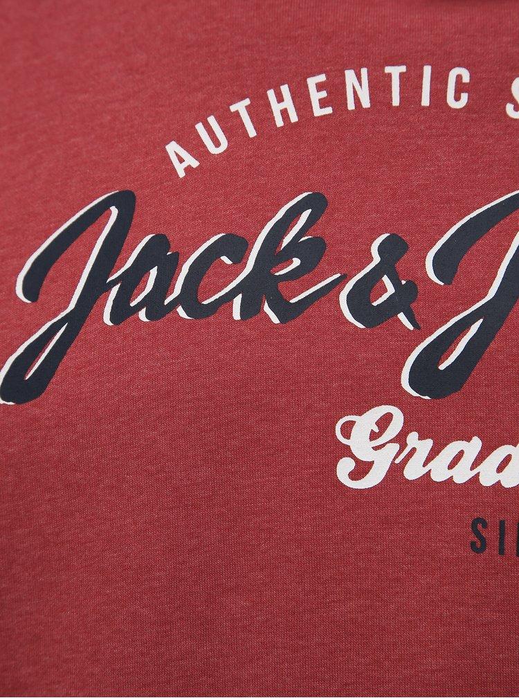 Pulovere cu gluga pentru barbati Jack & Jones - rosu