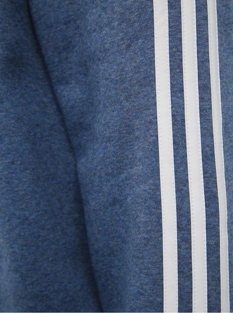 Modrá pánská mikina s potiskem adidas CORE