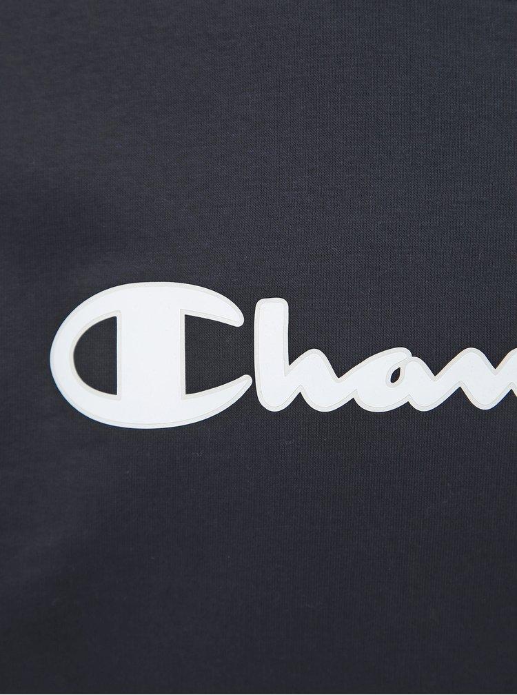 Tmavě modrá pánská mikina s potiskem Champion