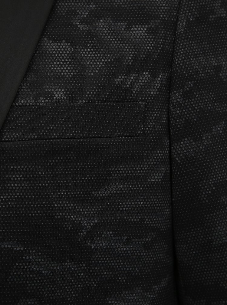 Tmavě šedé sako s maskáčovým vzorem Lindbergh