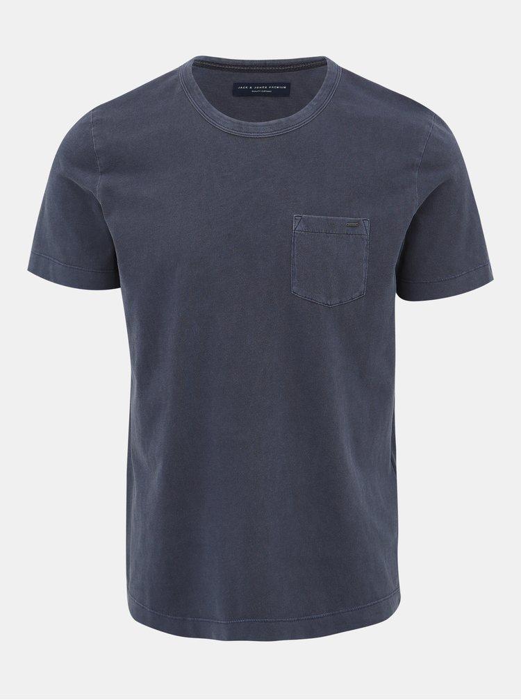 Šedé basic tričko Jack & Jones Brody