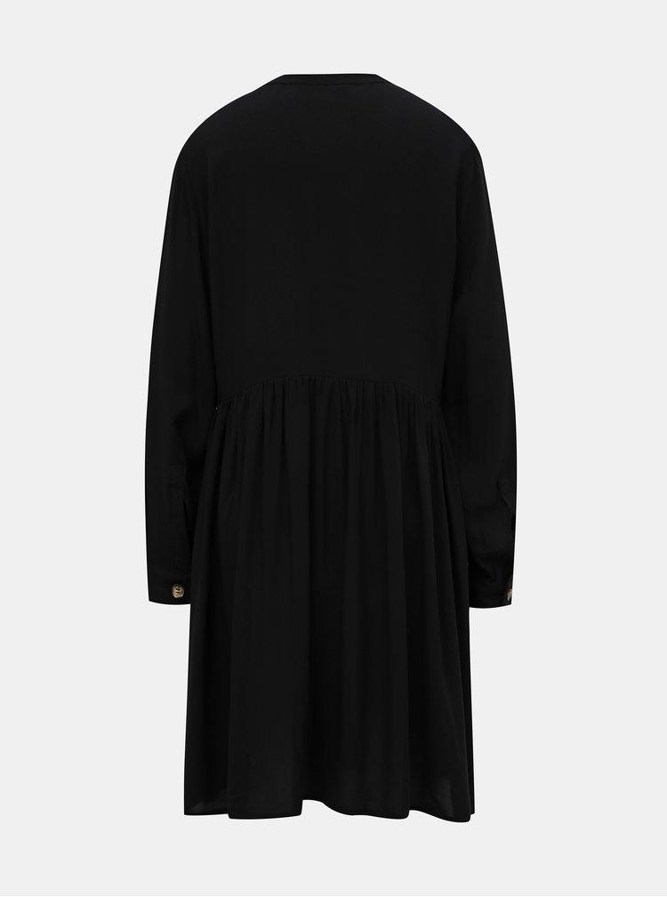 Černé košilové šaty ONLY Tallulah