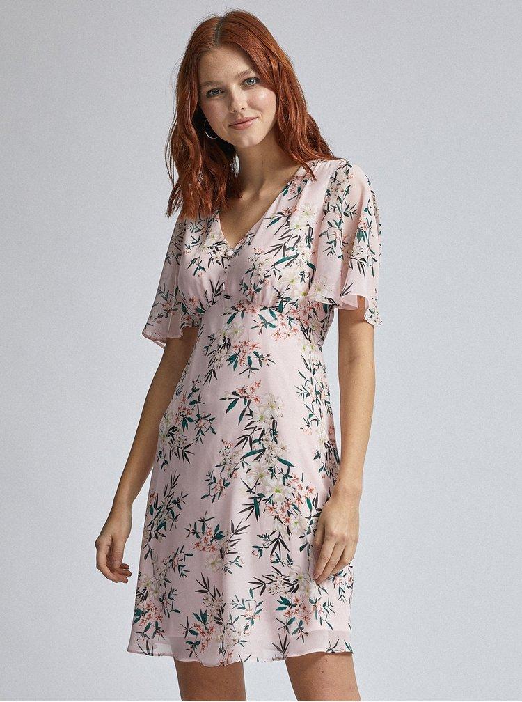 Růžové květované šaty Billie & Blossom