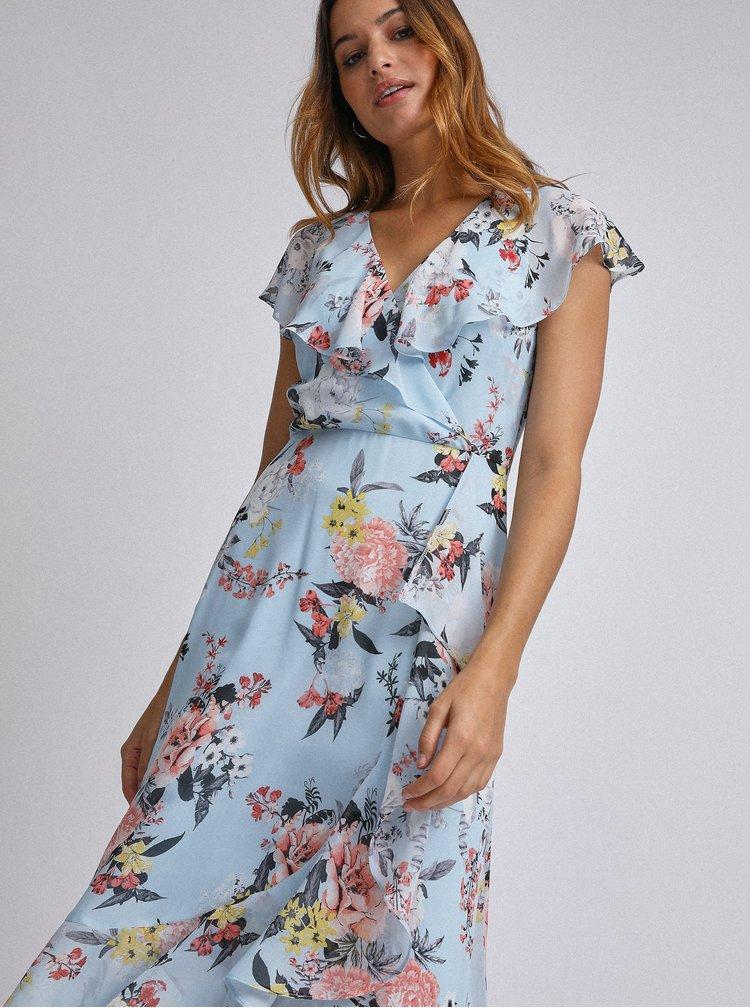 Světle modré květované šaty  Billie & Blossom