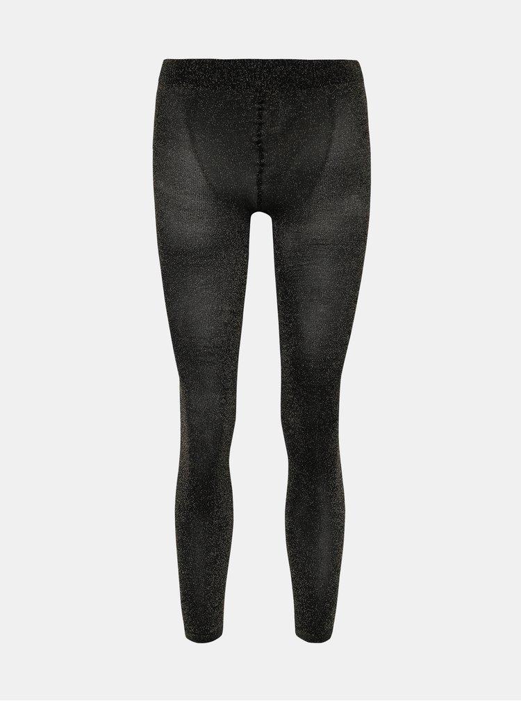 Černé třpytivé punčochové kalhoty Pompea Lars