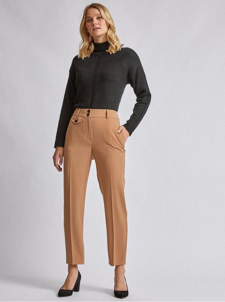 Hnědé kalhoty Dorothy Perkins