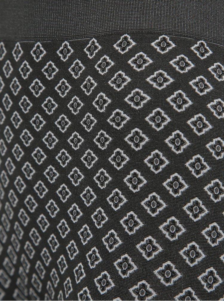 Tmavě šedé vzorované legíny Pompea Isotta