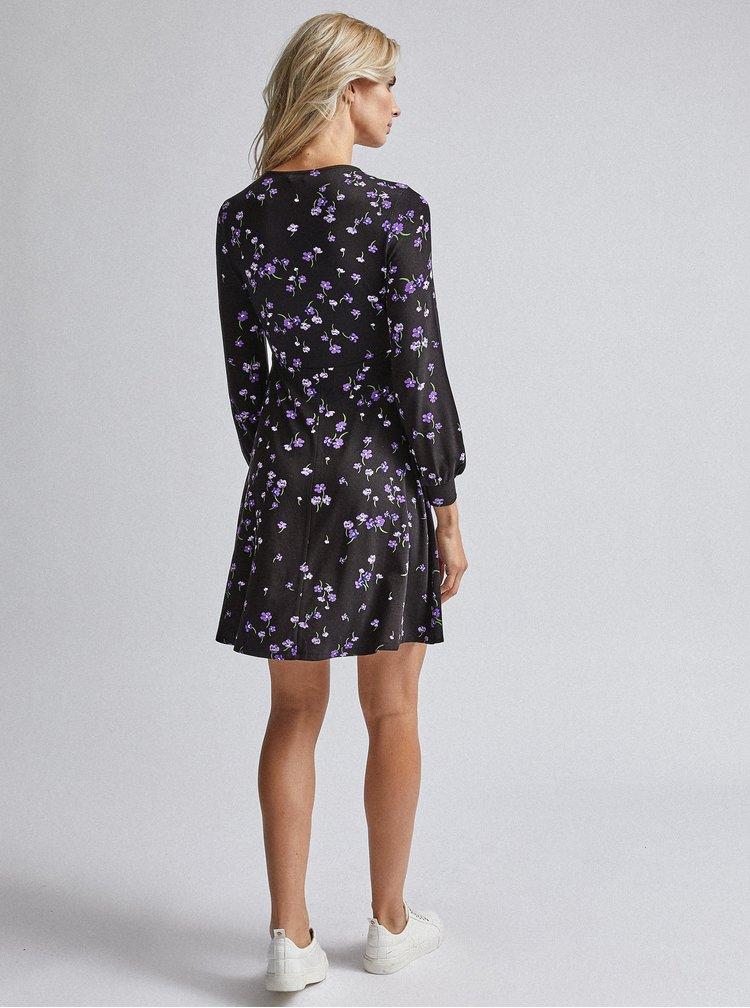 Čierne kvetované šaty Dorothy Perkins