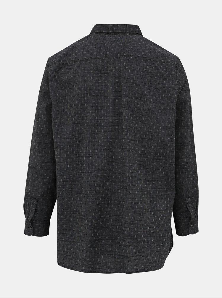 Tmavě šedá pánská vzorovaná košile Tom Tailor