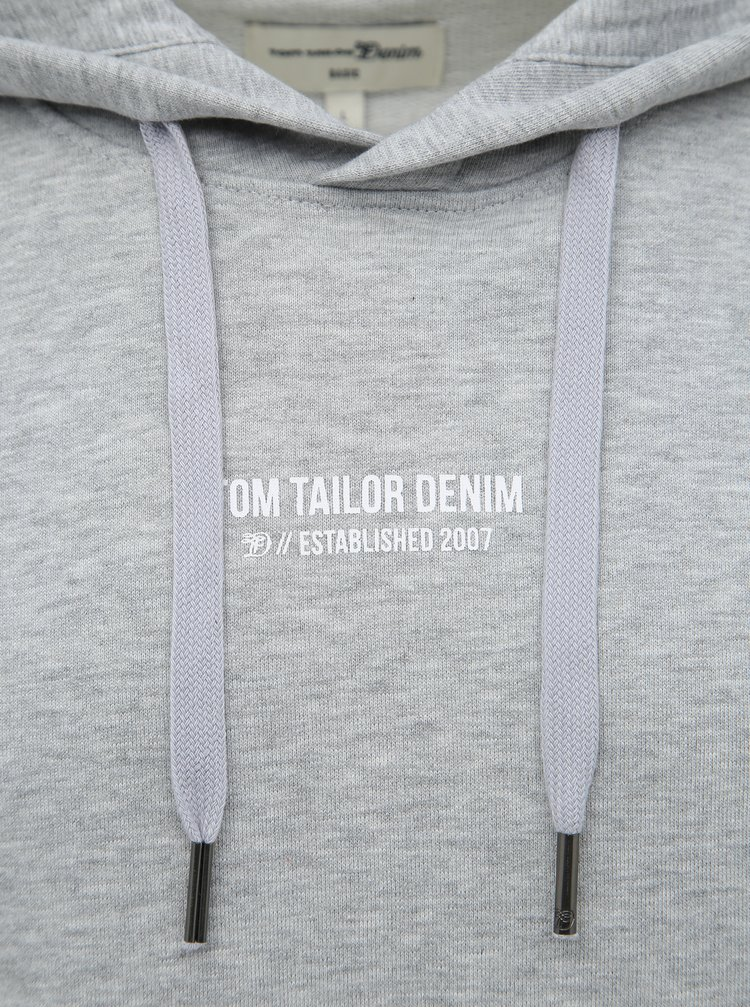 Světle šedá pánská mikina Tom Tailor Denim