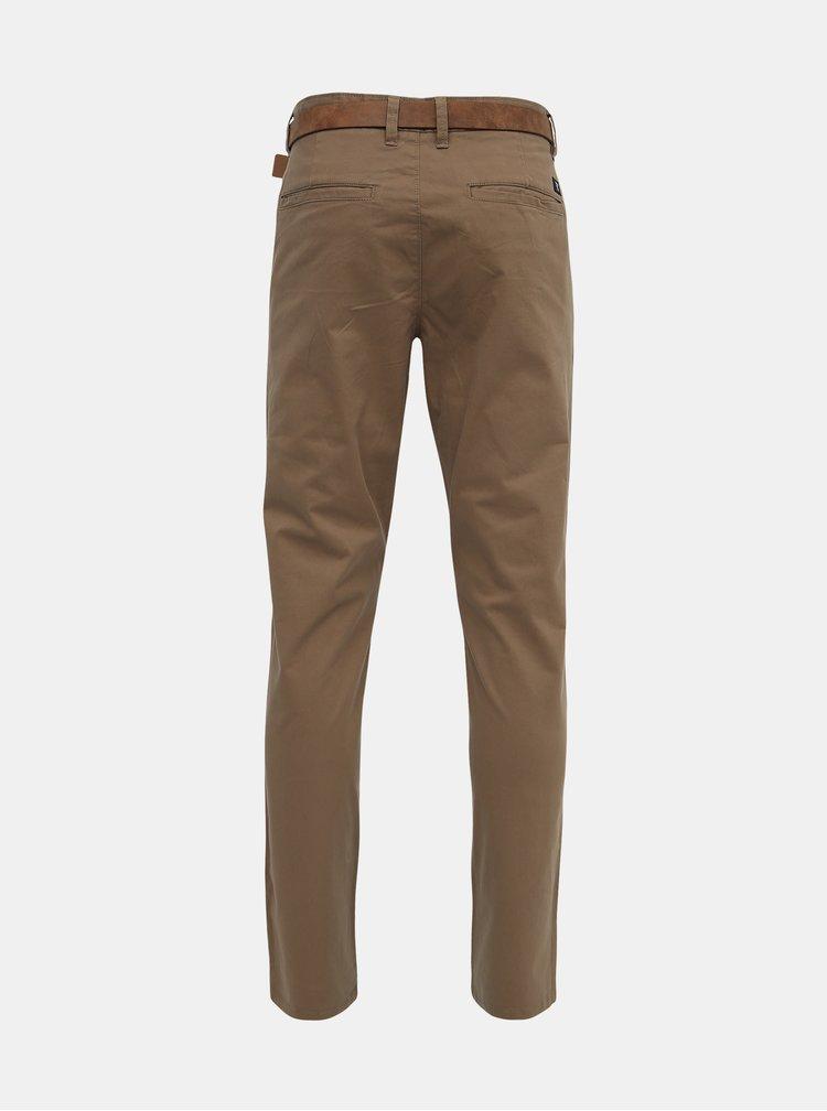 Hnědé pánské chino kalhoty Tom Tailor Denim