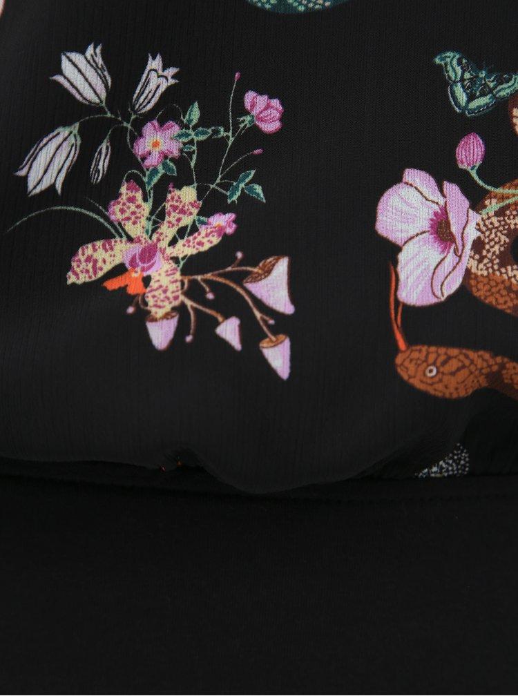 Černé dámské květované body Tom Tailor Denim