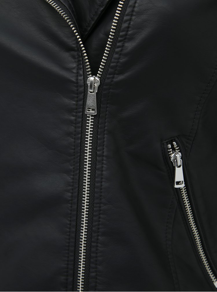 Černý koženkový křivák My True Me Tom Tailor