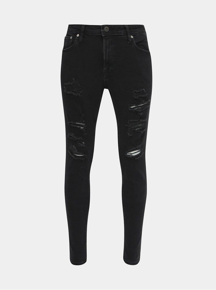 Černé skinny fit džíny Jack & Jones Liam