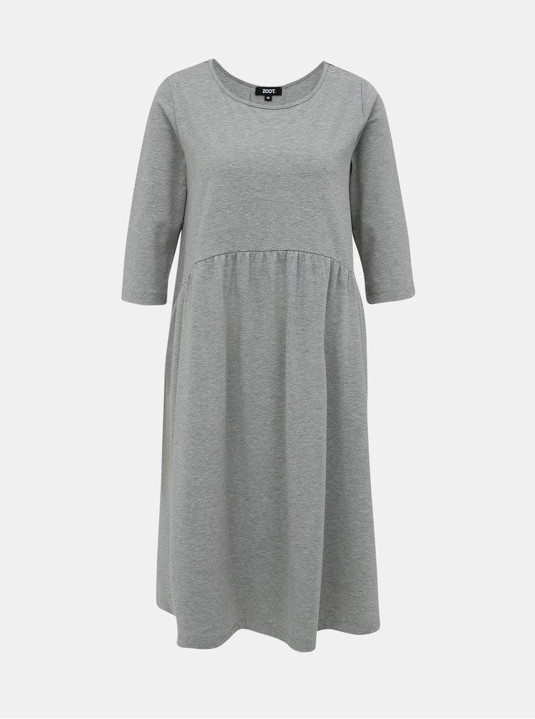 Šedé basic šaty ZOOT Peggy