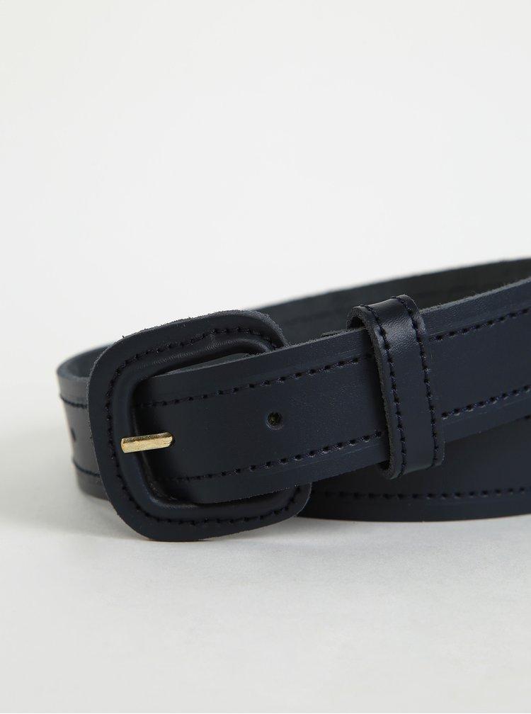 Tmavě modrý dámský kožený pásek OJJU