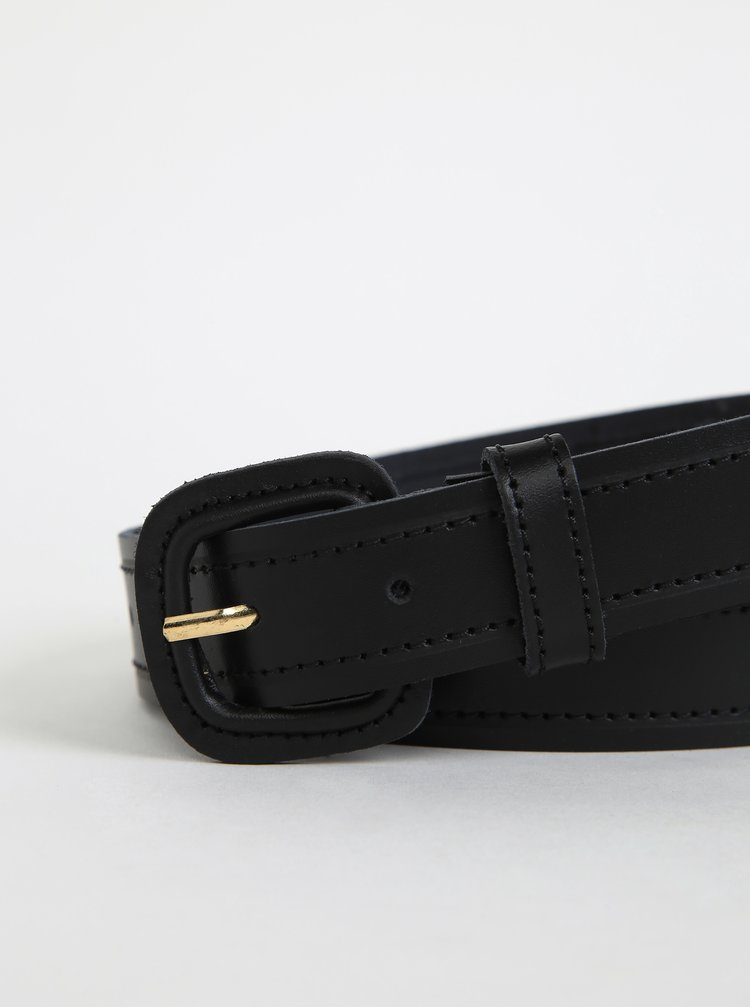 Černý dámský kožený pásek OJJU
