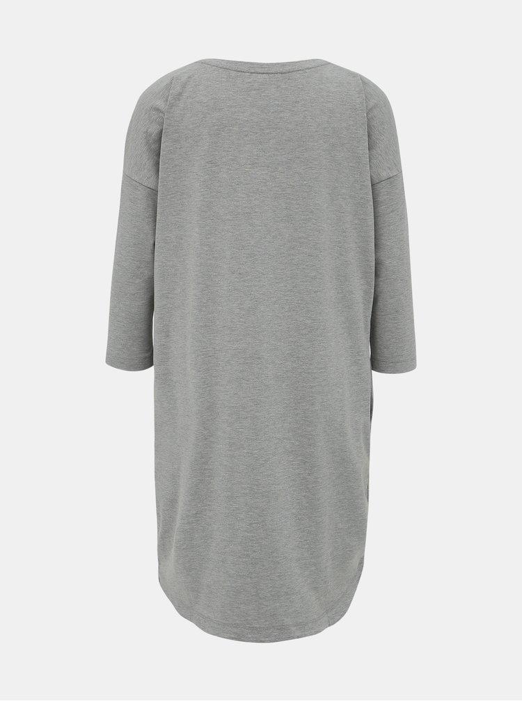 Šedé basic šaty ZOOT Serena