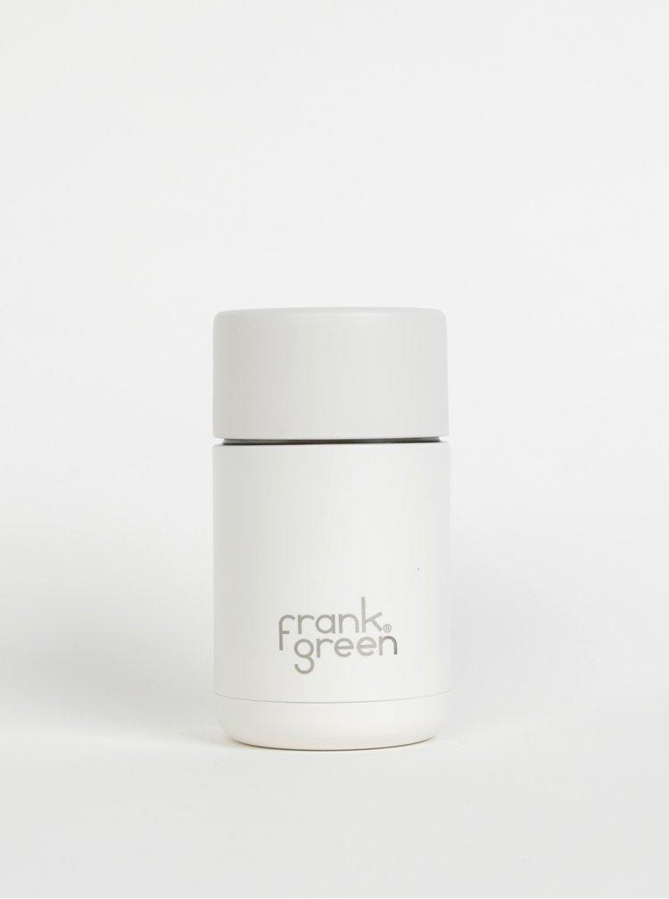 Bílý nerezový cestovní hrnek Frank Green Ceramic 295 ml