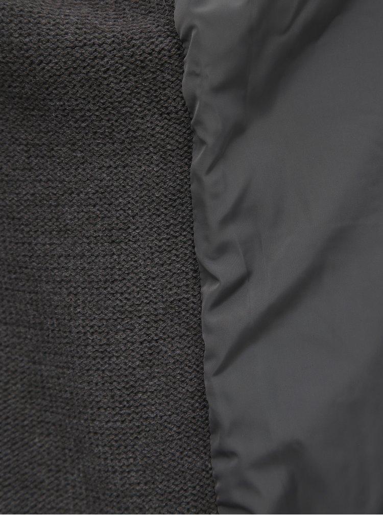 Šedá prošívaná bunda Burton Menswear London