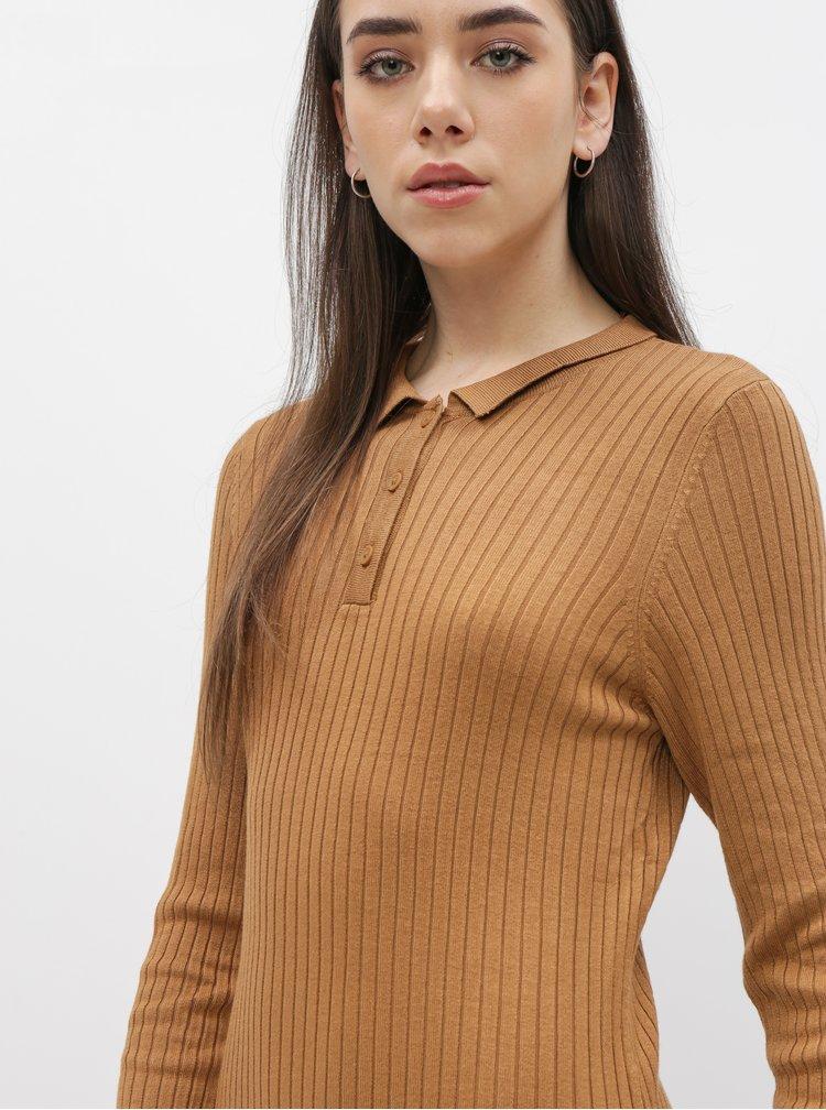 Hnědé svetrové šaty Noisy May Emily