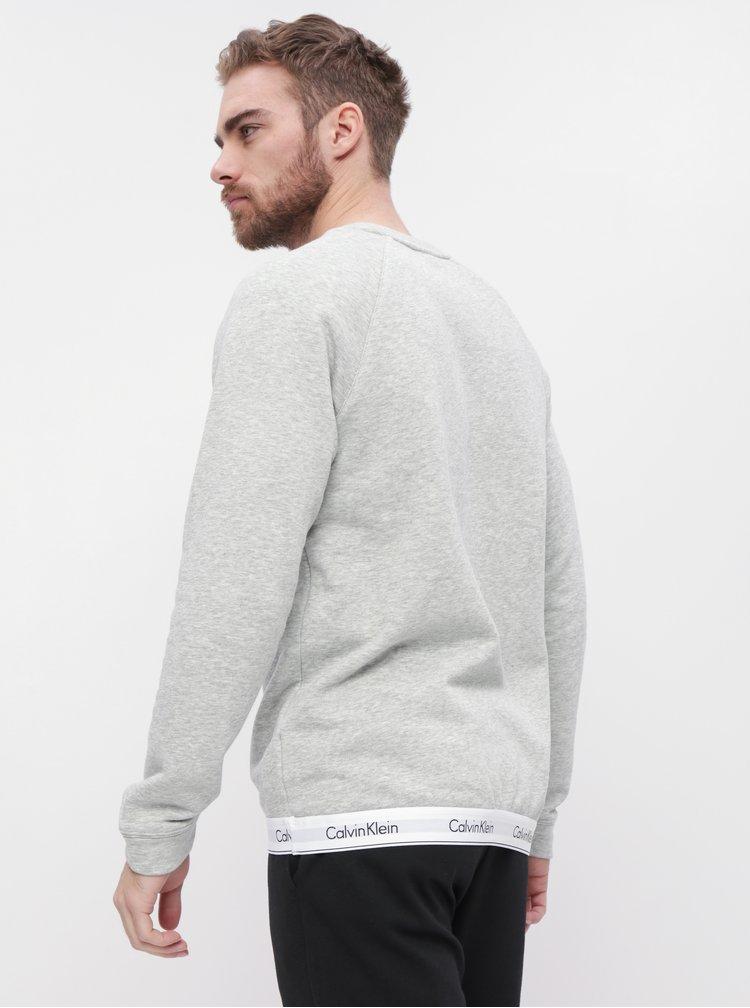 Šedá pánská žíhaná mikina Calvin Klein Underwear