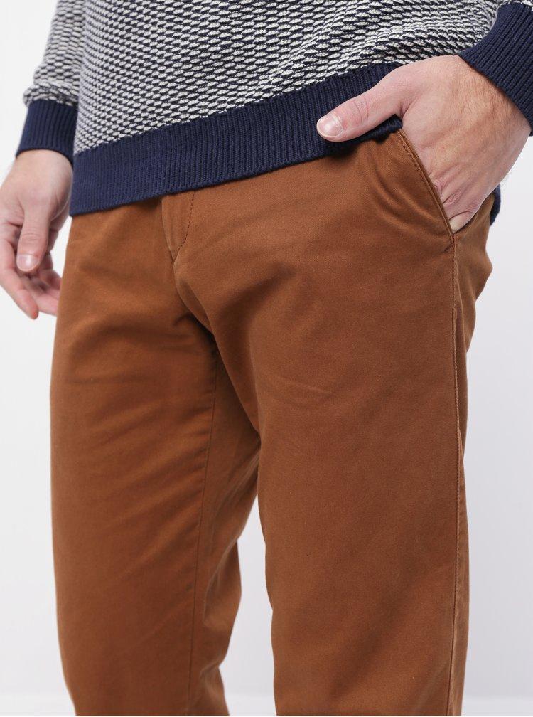Hnedé pánske chino nohavice ZOOT Franco