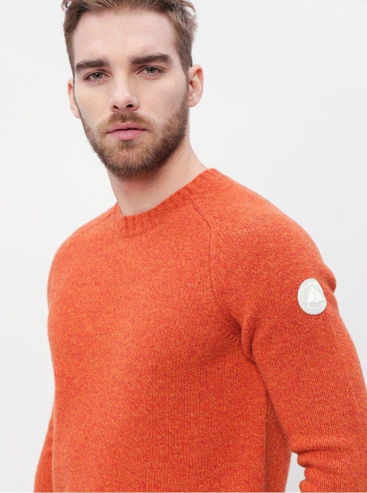 Oranžový pánský vlněný svetr Maloja Rageth