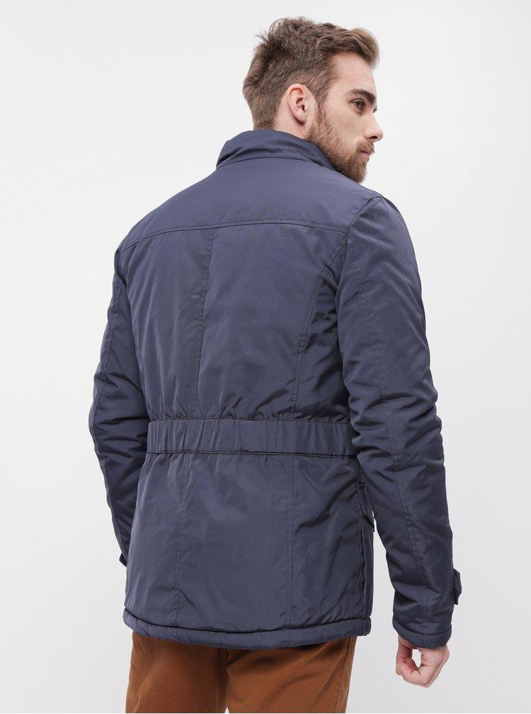 Tmavomodrá pánska vodeodolná zimná bunda SAM 73
