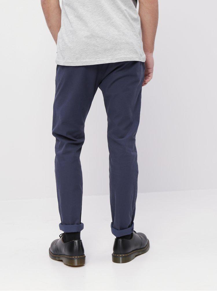 Tmavě modré pánské chino kalhoty Tom Tailor