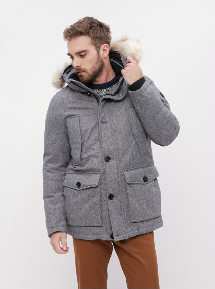 Šedá pánská zimní bunda Tom Tailor