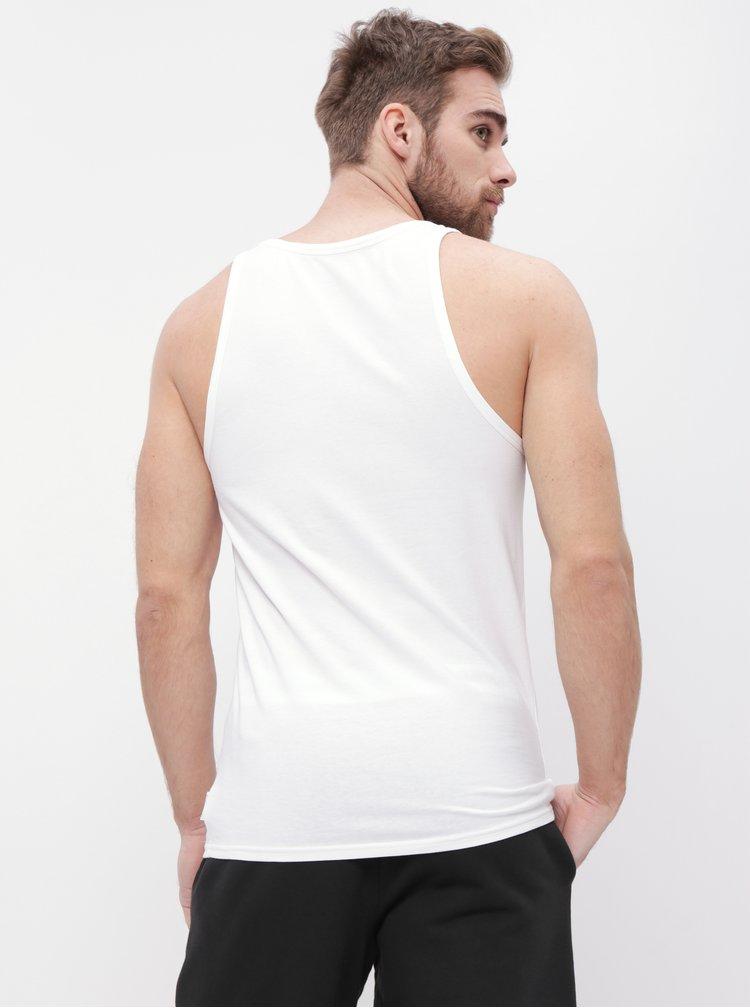 Sada dvou bílých pánských basic tílek Calvin Klein Underwear