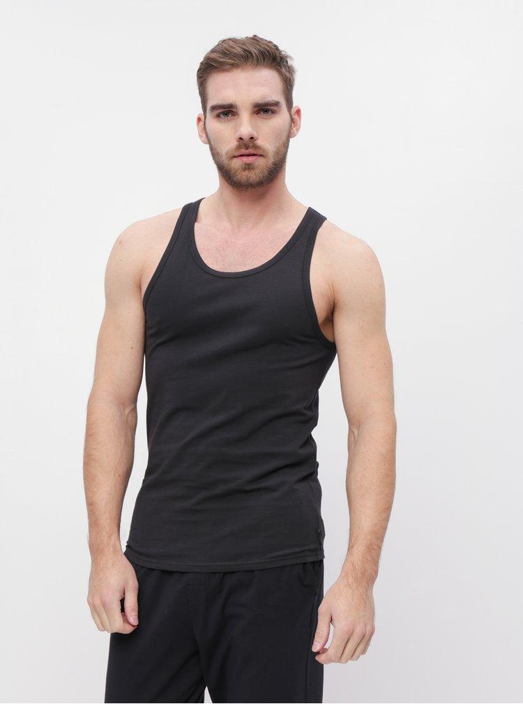 Sada dvou černých pánských basic tílek Calvin Klein Underwear