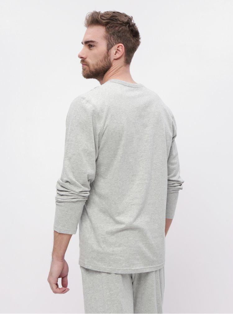 Světle šedé pánské tričko Calvin Klein Underwear